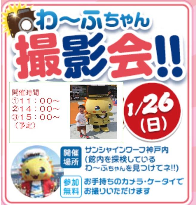 2020-01-26サンシャインワーフ神戸わ〜ふちゃん撮影会